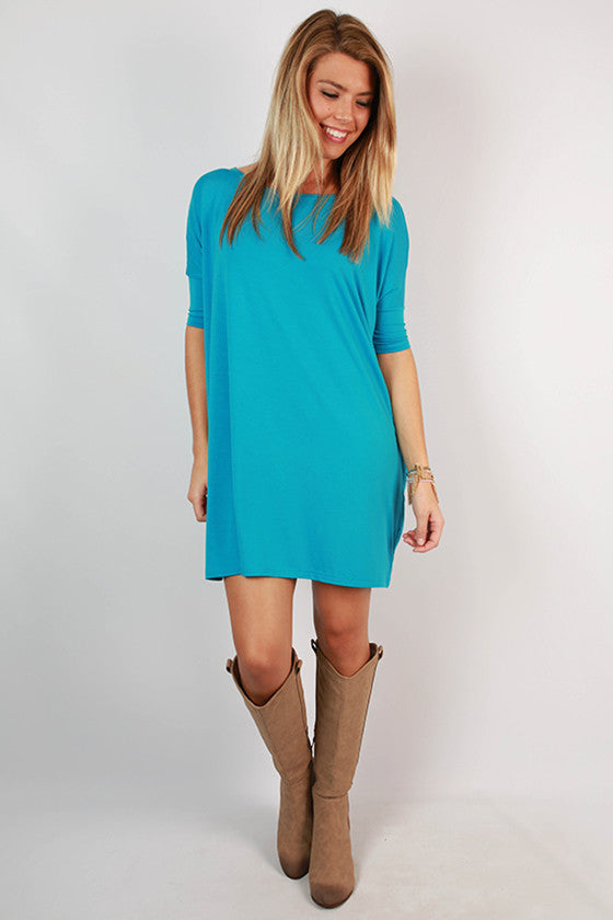 PIKO Mini Short Sleeve Tunic in Ocean Blue