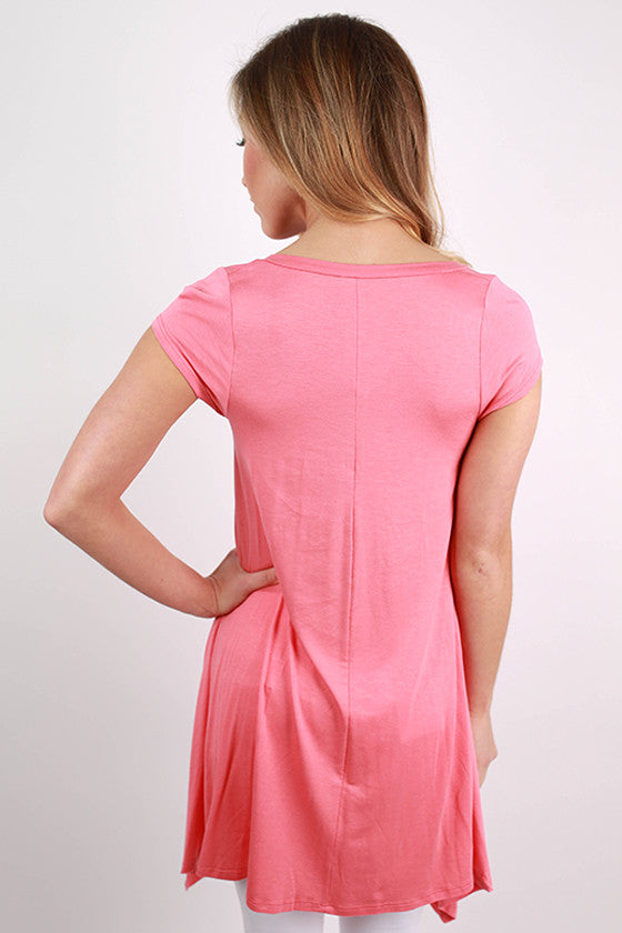 I'm Flawless Tunic in Coral