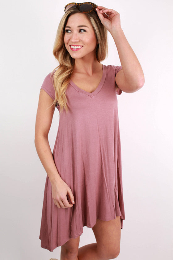 I'm Flawless Tunic in Dusty Purple