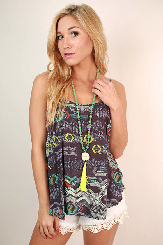 Merry Go Wow Tank in Abstract