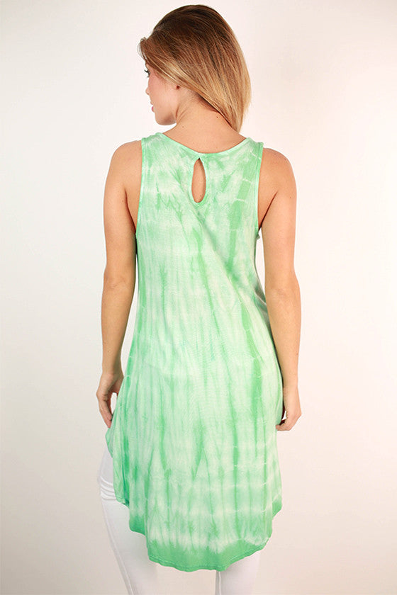 Sweet & Hi-Lo Tunic in Mint