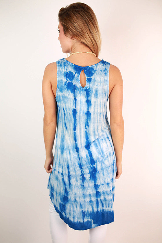 Sweet & Hi-Lo Tunic in Blue