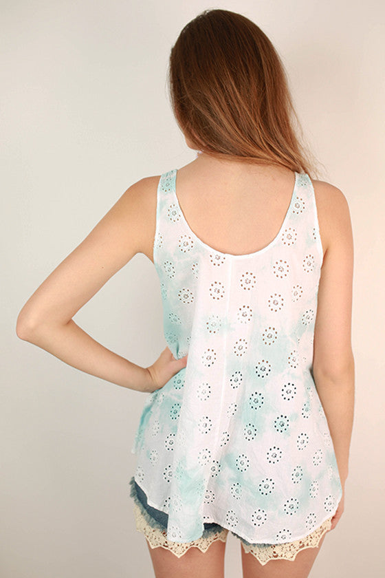 Sweet Swing Tie Dye Tank in Blue