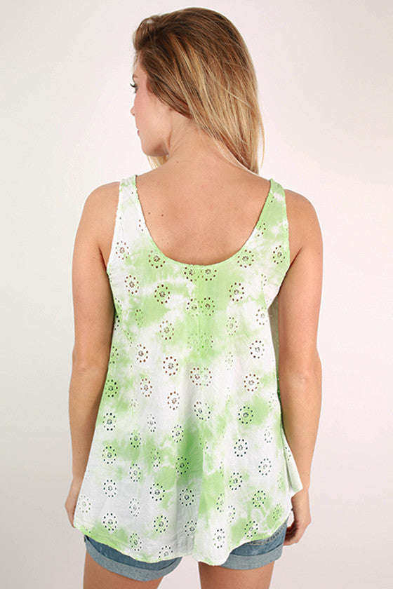 Sweet Swing Tie Dye Tank in Green