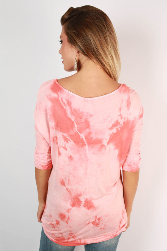 Venice Beach Tee in Coral
