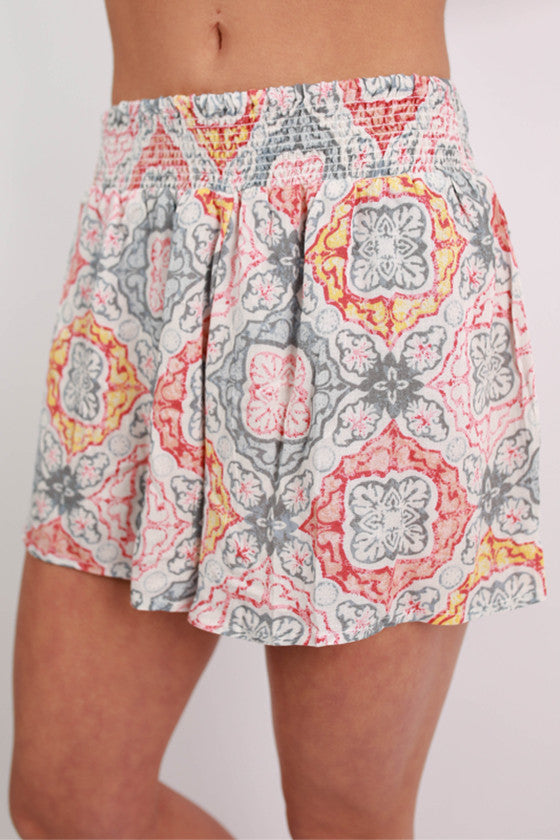 Floral For Days Shorts in Grey
