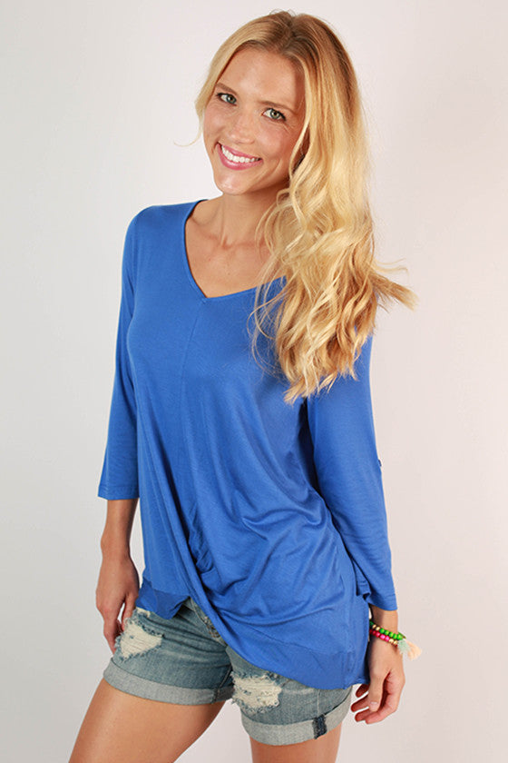 So Charming Top in Blue