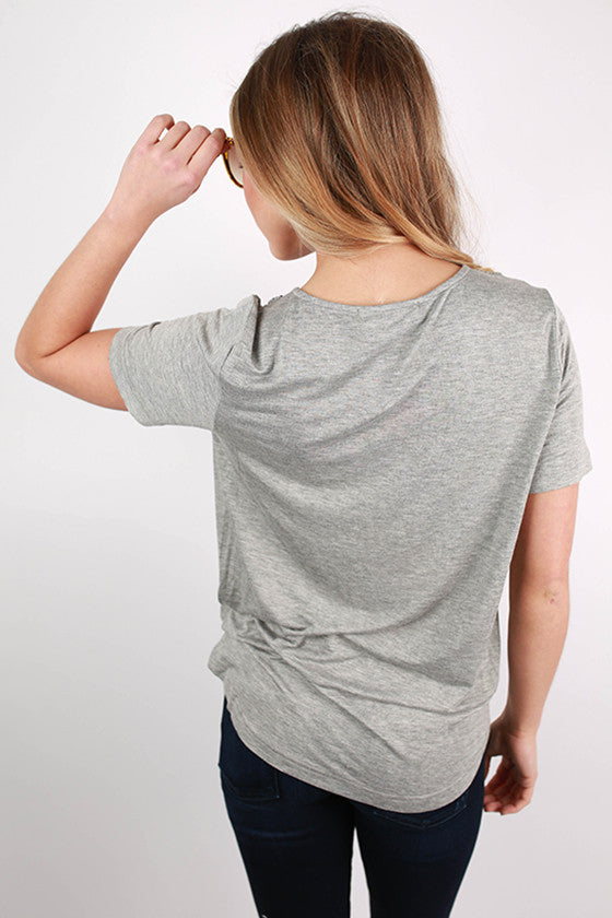NY Fashion Week Top in Heather Grey