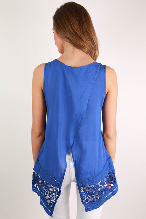 Time of Your Life Top in Blue