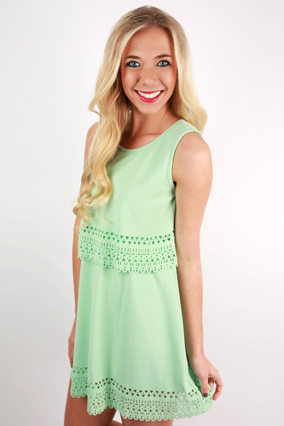 Blissful Babe Dress in Mint