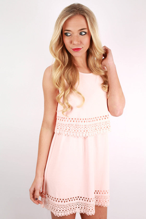 Blissful Babe Dress in Peach