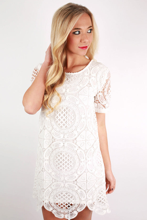 Party Perfect Dress in White