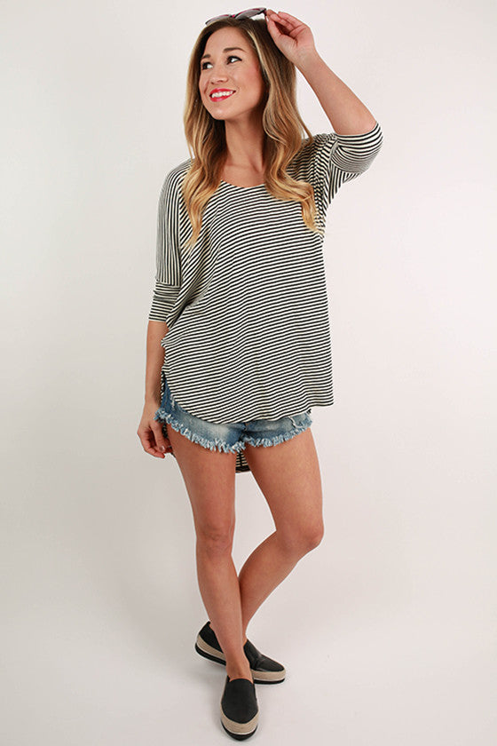 Stripe Me Happy Dolman Tee