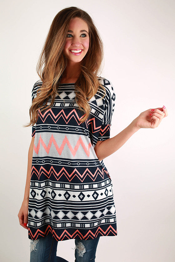 Midnight in Morocco Tunic in Navy