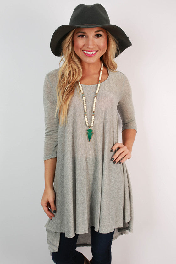 When Skies Are Grey Tunic
