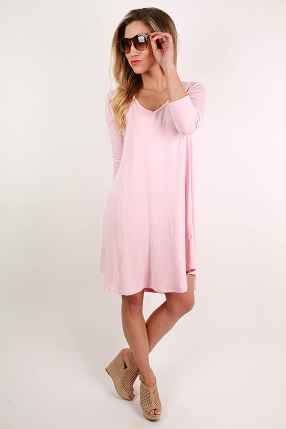 Spring Fling Twirl Dress in Light Pink