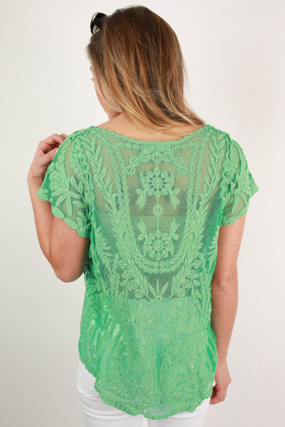 Tour of Rome Top in Green