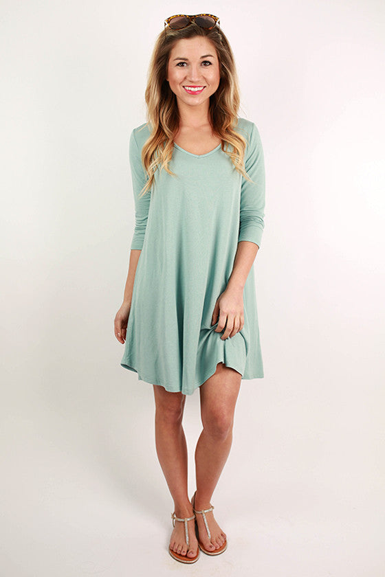 Spring Fling Twirl Dress in Sky Blue