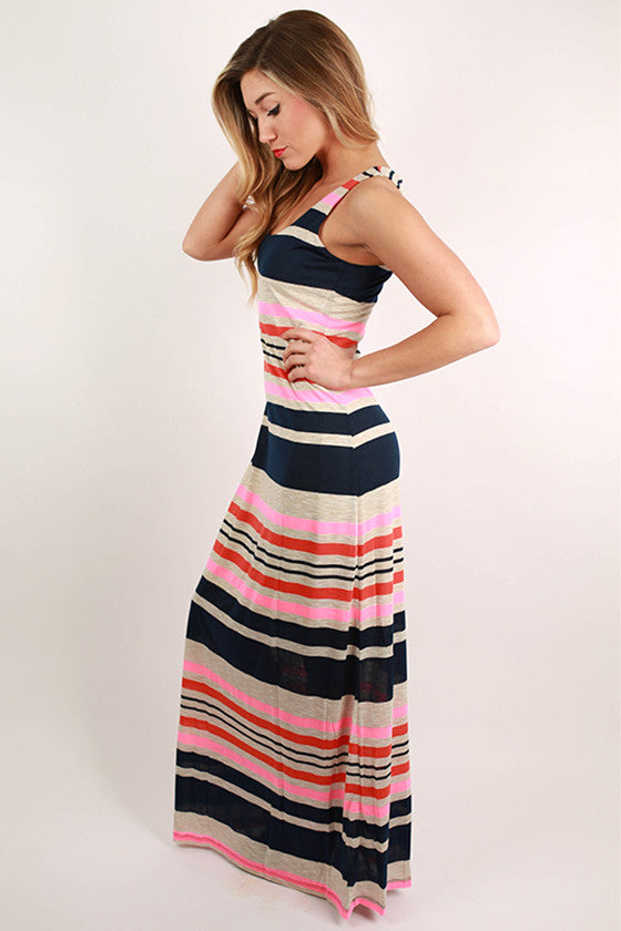 Forever Fashionable Maxi in Navy