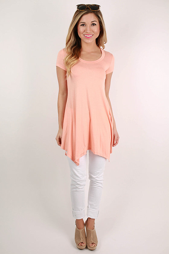 West Coast Weekend Top in Peach