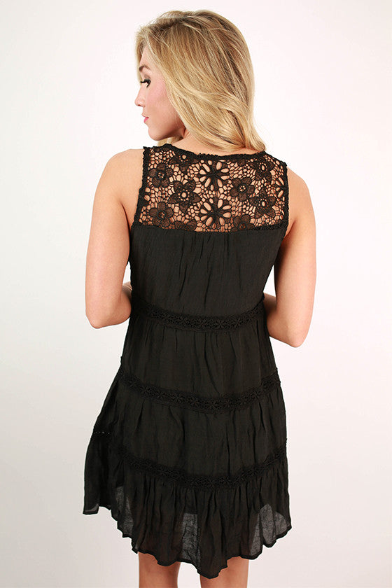 Mediterranean Cruisin' Dress in Black