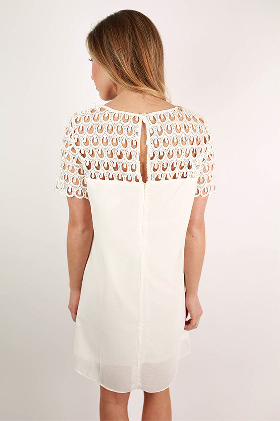 Off to the Races Dress in Ivory