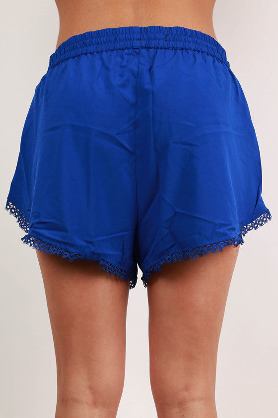 Some Like It Hot Dress Shorts in Royal Blue