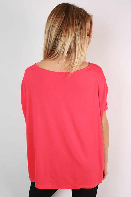 PIKO Everyday Tee in Coral