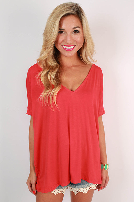 PIKO Everyday Tee in Scarlet