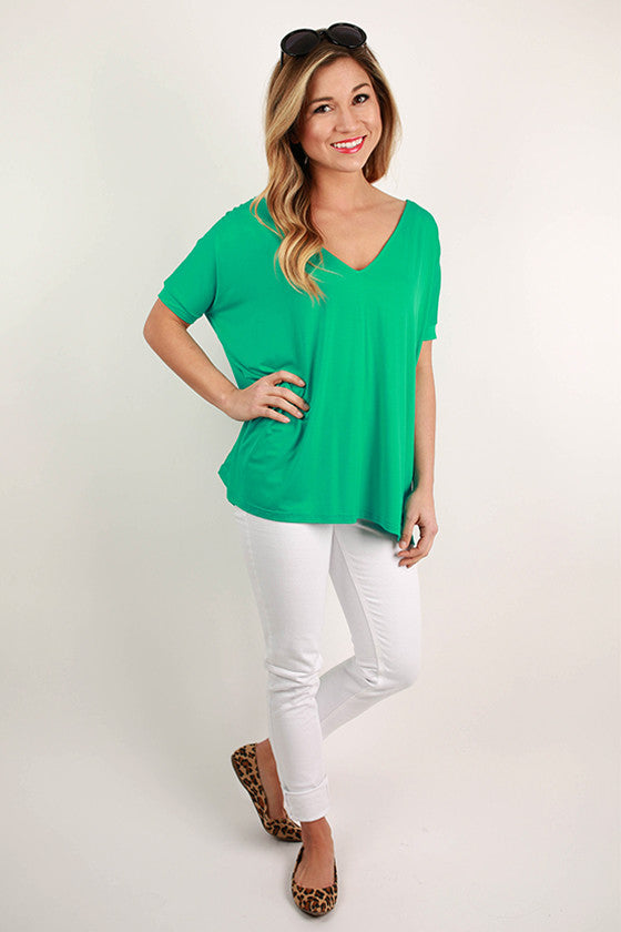 PIKO Everyday Tee in Bright Turquoise