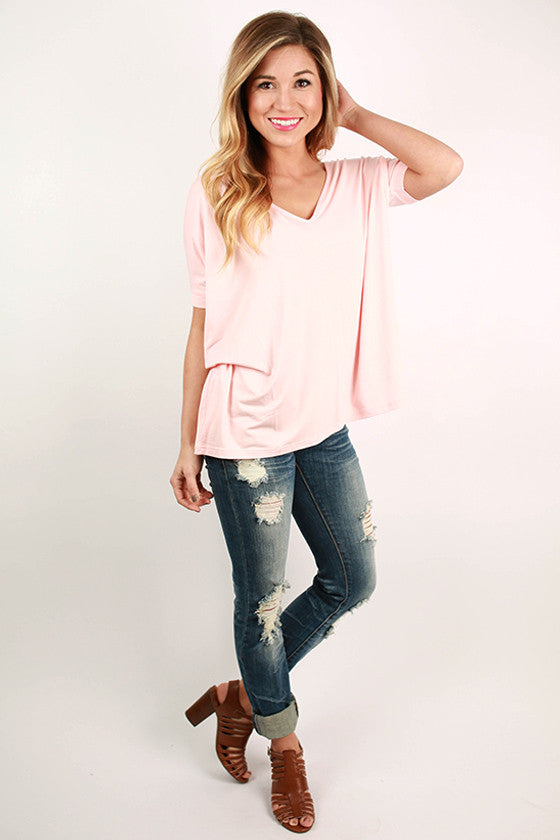 PIKO Everyday Tee in Light Peach