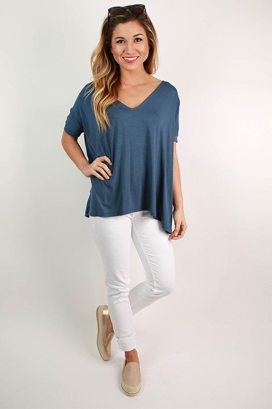 PIKO Everyday Tee in Navy