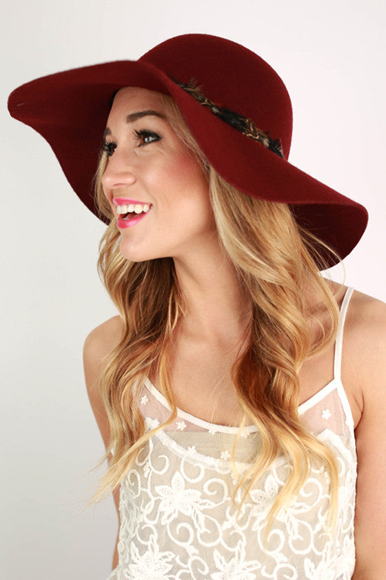Always Chic Hat in Maroon