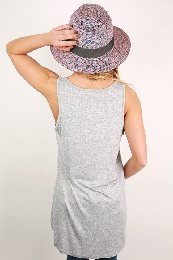 Basic Hi-Lo Pocket Tank in Grey