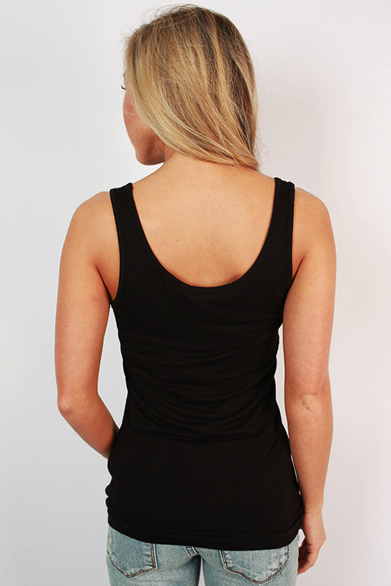 Basic Scoop Tank in Black