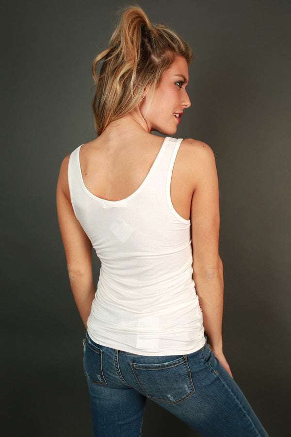 Basic Scoop Tank in White