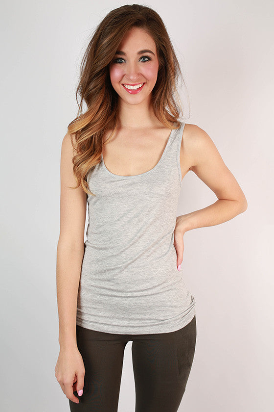 Basic Scoop Tank in Grey