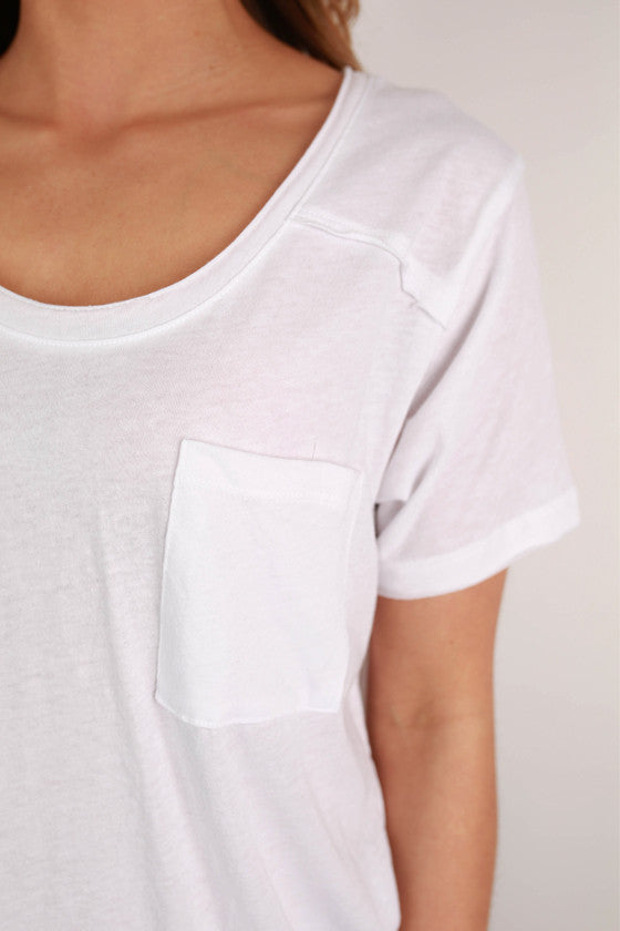 Basic Pocket Tee in White