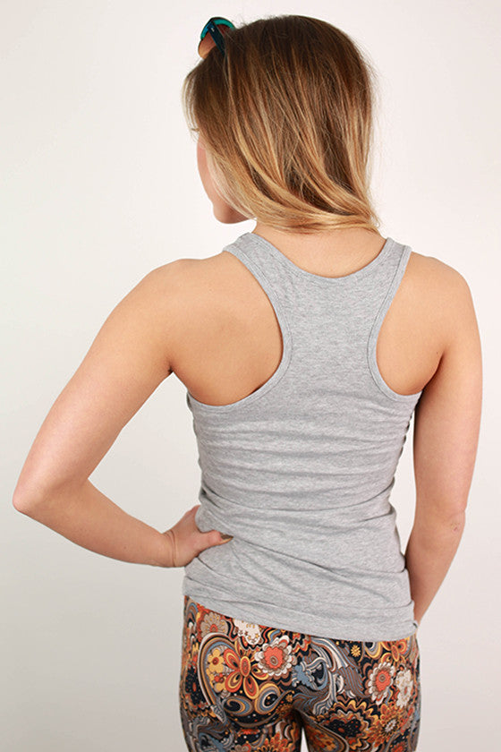 Basic Racerback Tank in Grey