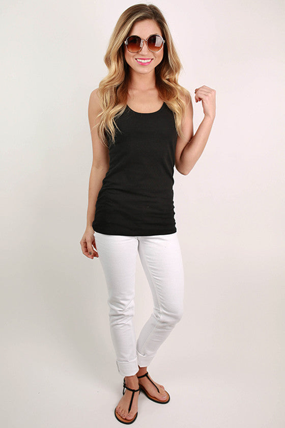 Basic Racerback Tank in Black