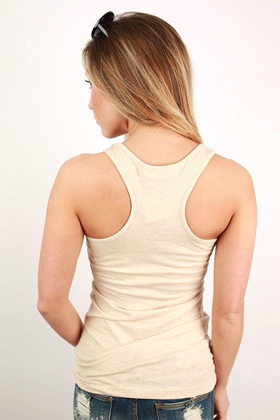 Basic Racerback Tank in Oatmeal