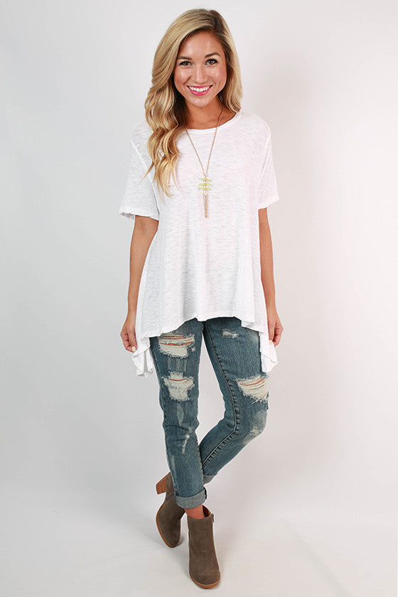 Keepsake Scoop Neck Swing Tee in White