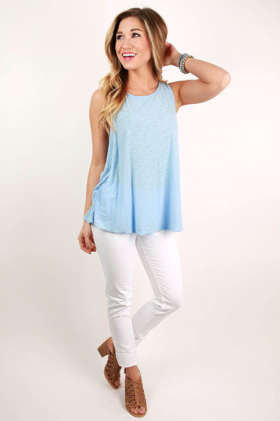 Keepsake Racerback Tank in Sky Blue