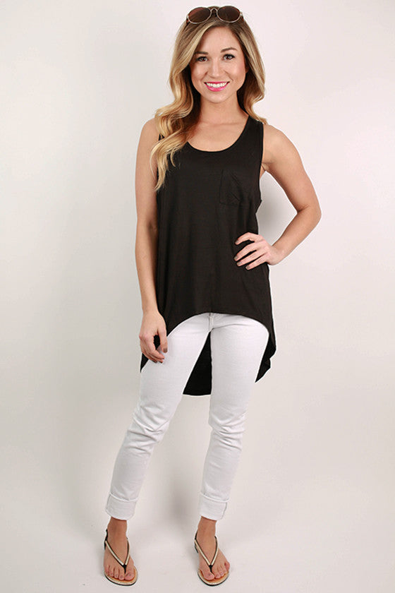 Basic Hi-Lo Pocket Tank in Black