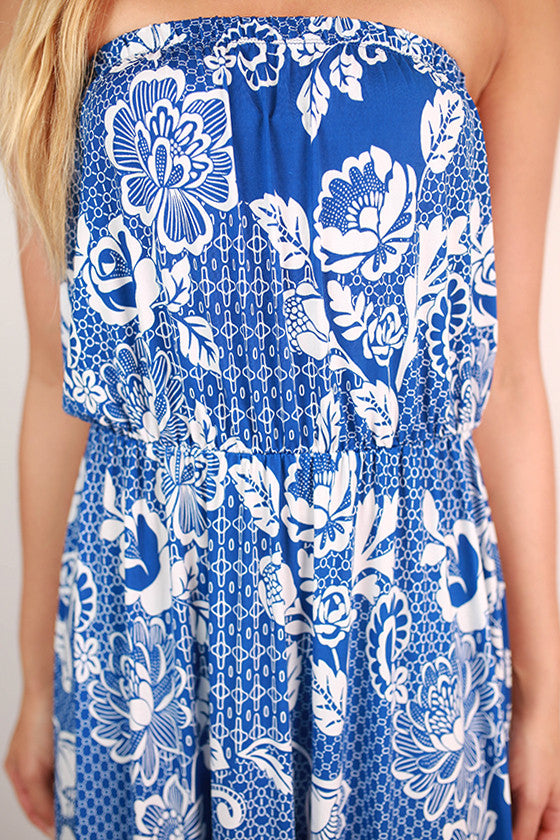 Soho Chic Maxi Dress in Blue