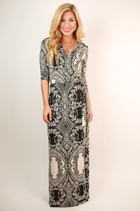 On My Mind Maxi Dress in Black