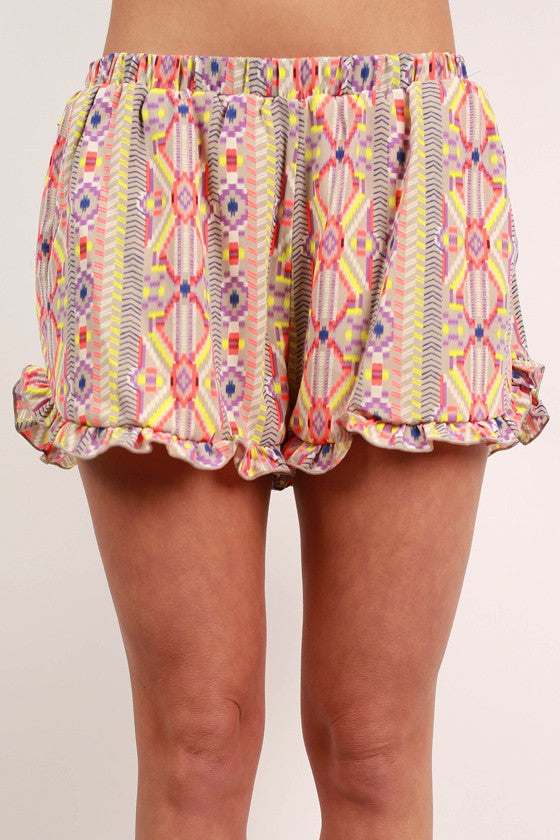 Play on Print Shorts