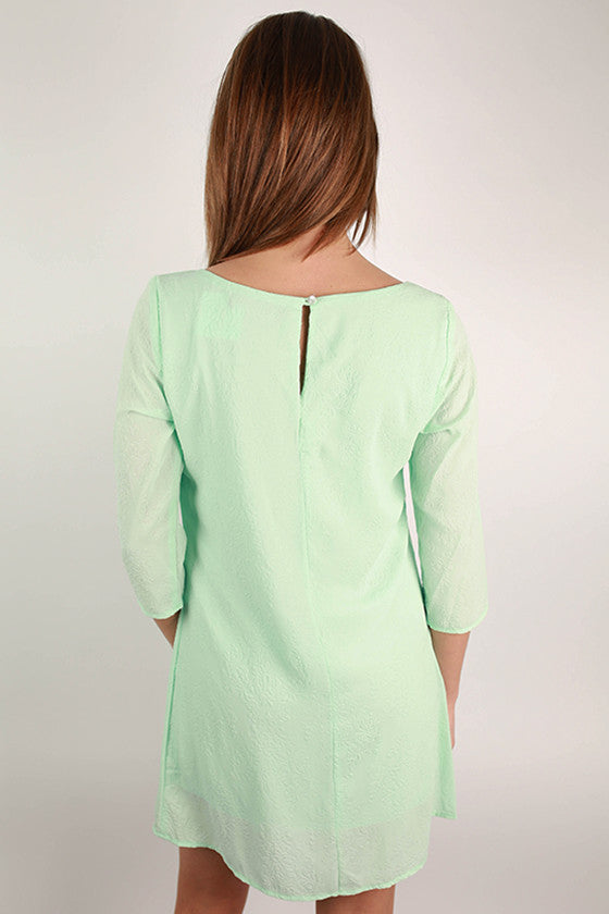 Oh So Chic Shift Dress in Mint