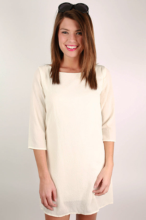 Oh So Chic Shift Dress in Ivory