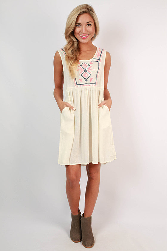 Keep It Exclusive Baby Doll Dress in Ivory